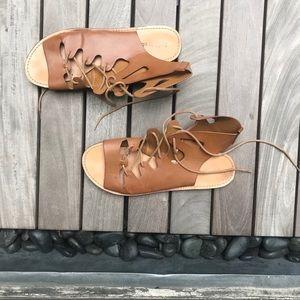 Indigo Rd | Tan Flat Tie Up High Top Sandal